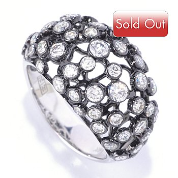 126-961 - EFFY 14K White Gold 1.90ctw Scattered Diamond Dome Ring