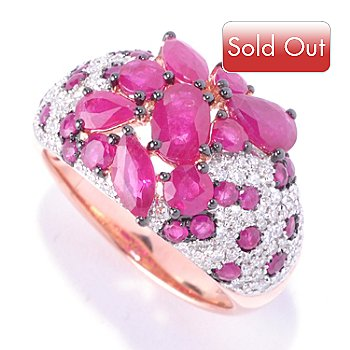 126-970 - EFFY 14K Rose Gold 3.65ctw Diamond, Ruby & Multi Shape Innova™ Ruby Ring