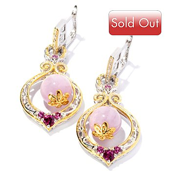 127-017 - Gems en Vogue II 11.5mm Bead & Multi Gemstone Drop Earrings