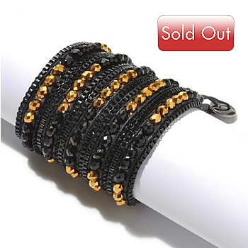 127-100 - Sweet Romance™ 30'' Glass Bead Peacock Wrap Bracelet or Necklace w/ Extender