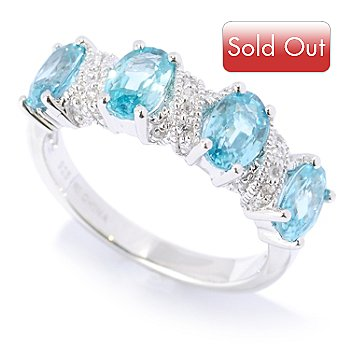 127-183 - NYC II 2.67ctw Blue Zircon & White Zircon Ring