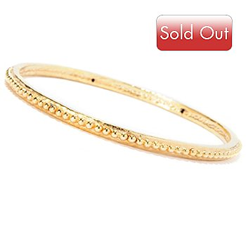 127-312 - Italian Designs with Stefano 14K ''Oro Vita'' Electroform Rosary Bangle Bracelet