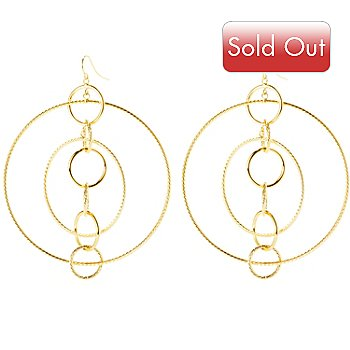 127-386 - Italian Designs with Stefano 14K Gold Multi Circle Hoop Earrings