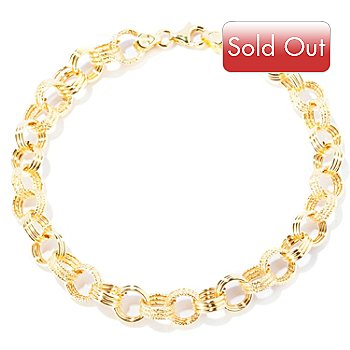127-400 - Italian Designs with Stefano 14K Gold Silk Story Bracelet
