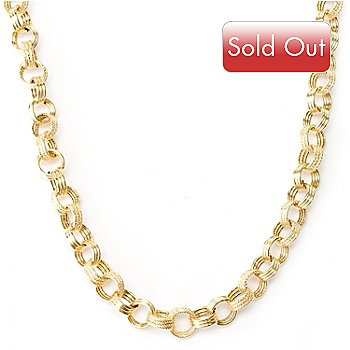 127-423 - Italian Designs with Stefano 14K Gold 18'' Silk Story Necklace