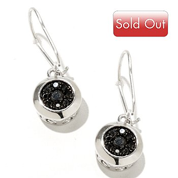 127-462 - Gem Treasures Sterling Silver Black Spinel Earrings