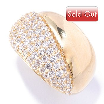 127-571 - Sonia Bitton for Brilliante® 1.54 DEW Pave Round Cut Polished Ring