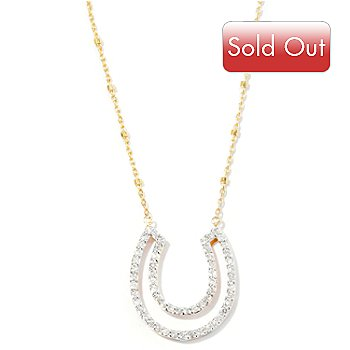 127-593 - Beverly Hills Elegance 14K Gold 0.50ctw Diamond Horseshoe Necklace