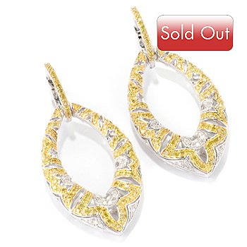 127-607 - Diamond Treasures Sterling Silver 1.50ctw White & Colored Diamond Drop Earrings