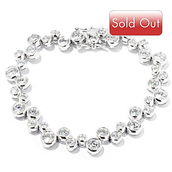 127-648 - Brilliante® Platinum Embraced™ Scattered Bubble Line Bracelet