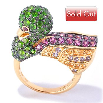 127-747 - NYC II 3.80ctw Chrome Diopside & Multi Gemstone Duck Ring
