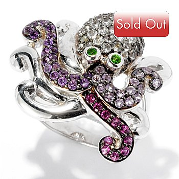 127-750 - NYC II 1.63ctw Multi Gemstone Octopus Ring
