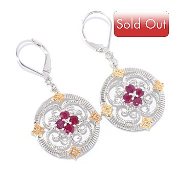 127-791 - NYC II Gemstone & Diamond Medallion Drop Earrings