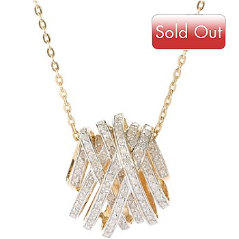 127-860 - Diamond Treasures 0.75ctw Diamond Crisscross Pendant w/ Chain