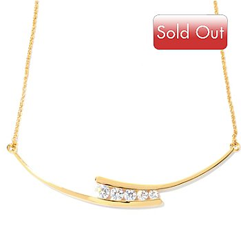 127-869 - Brilliante® 18'' 1.90 DEW Simulated Diamond Necklace w/ 2'' Extender