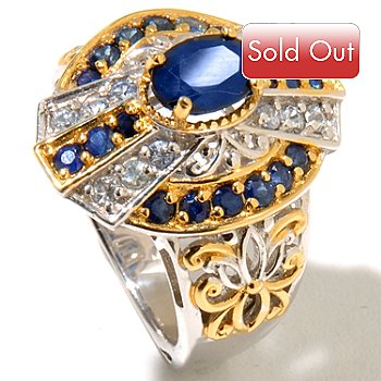 127-898 - Gems en Vogue II 2.51ctw Blue & Silver Sapphire Polished Ring