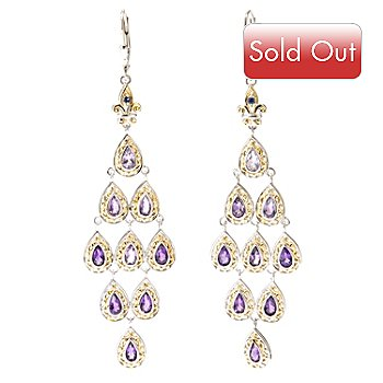 127-932 - Gems en Vogue II 4.58ctw Gemstone and Sapphire Chandelier Earrings