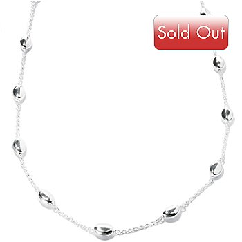 127-996 - SempreSilver™ 36'' Oval Nuggets Station Necklace
