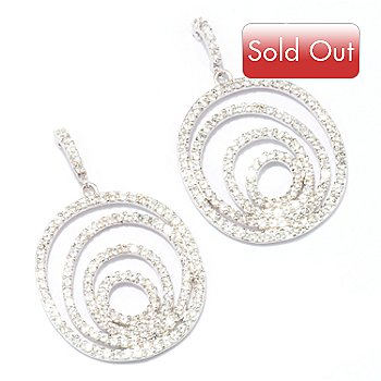 128-030 - Sonia Bitton for Brilliante® 3.50 DEW Round Cut Multi-Oval Drop Earrings