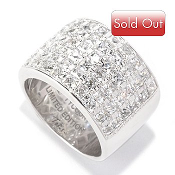 128-150 - TYCOON for Brilliante® Platinum Embraced™ 2.72 DEW Six-Row Cigar Band Ring