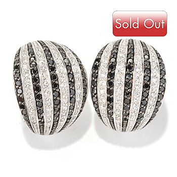 128-396 - Sonia Bitton for Brilliante® Platinum Embraced™ 2.60 DEW Black & White Earrings