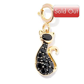 128-452 - NYC II Black Spinel Polished Cat Charm