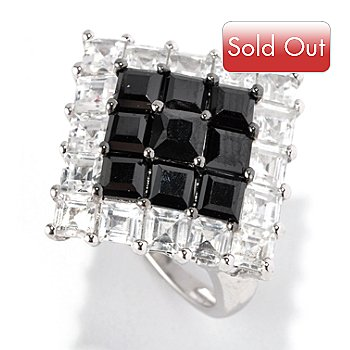 128-670 - NYC II 6.29ctw Spinel & White Zircon Diamond-Shaped Ring
