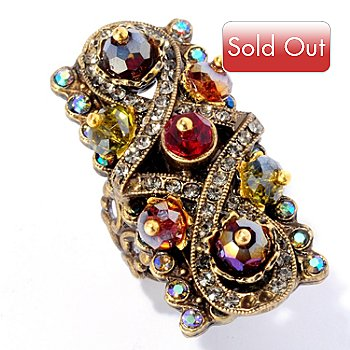 128-781 - Sweet Romance™ Elongated Crystal & Glass Bead Ring