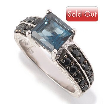 128-815 - Gem Treasures Sterling Silver 2.68ctw London Blue Topaz & Spinel Ring
