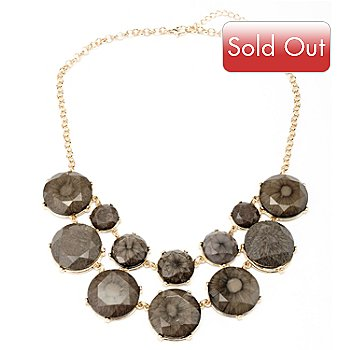 128-874 - Meghan Browne Style 19'' Gold-tone ''Sadie'' Necklace