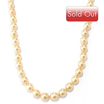 129-021 - 14K Gold 18'' 8-9mm Golden South Sea Cultured Pearl Necklace
