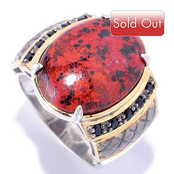 129-031 - Men's en Vogue II 20 x 15mm Cuprite & Black Spinel Ring