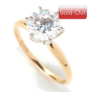 129-081 - Brilliante® 14K Gold Essentials™ Solitaire Ring