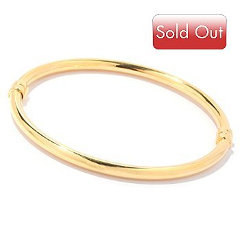 129-224 - Portofino Gold Embraced™ High Polished Hinged Bangle Bracelet