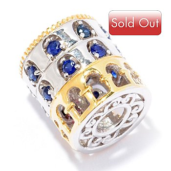 129-244 - Gems en Vogue II Sapphire ''Colosseum'' Travel Series Slide-on Charm