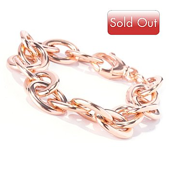 129-382 - Milano Luxe Gold Embraced™ 8.75'' Oval Link Chain Bracelet