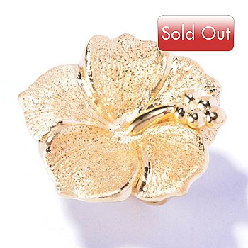 129-508 - Charles Garnier Gold Embraced™ Electroform Diamantini Hibiscus Ring