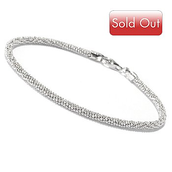 129-516 - Palatino™ Platinum Embraced™ Diamond Cut Beaded Bracelet