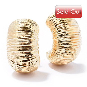 129-651 - Italian Designs with Stefano 14K ''Oro Vita'' Electroform Textured Earrings