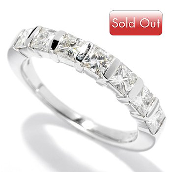 130-089 - Estrella Moissanite 14K Gold 1.12 DEW Princess Cut Band Ring