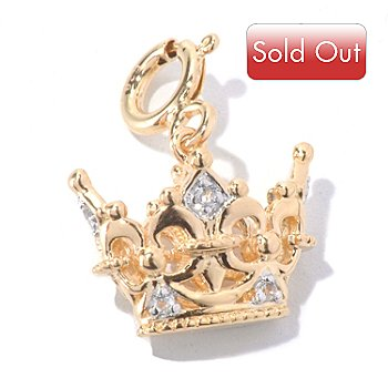 130-289 - NYC II White Topaz Crown Drop Charm