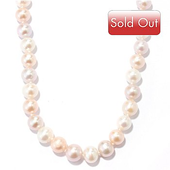 131-091 - 14K Gold 18'' 9-10mm Multi Color Freshwater Cultured Pearl Necklace
