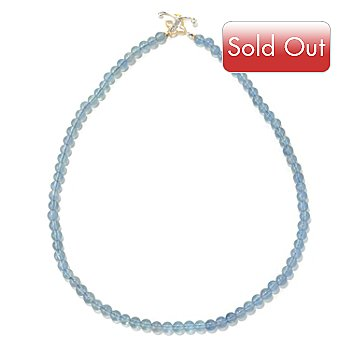 131-703 - Gems en Vogue II 20'' Blue Fluorite Beaded Toggle Necklace