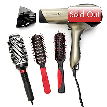 303-983 - Centrix® Q-Zone™ Quiet Hair Dryer w/ Three Styling Brushes
