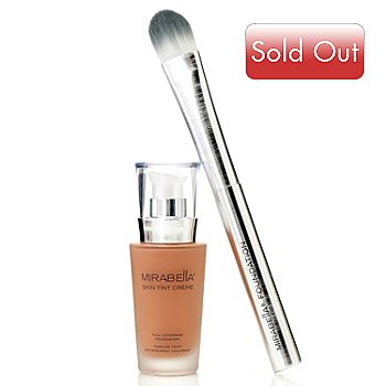 304-497 - Mirabella® Full Coverage Skin Tint Crème Foundation 1 oz w/ Foundation Brush