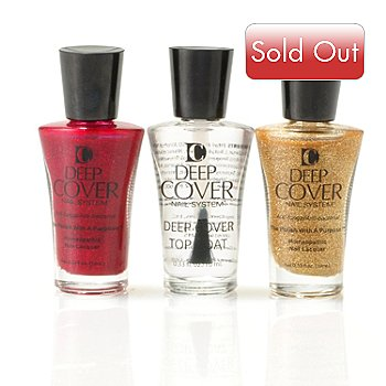 304-830 - Deep Cover Three-Piece Nail Lacquer & Treatment Holiday Glam Pack