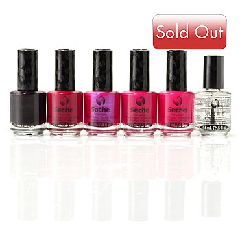 304-911 - Seche® Beautiful Berries & Fast Dry Top Coat Six-Piece Set