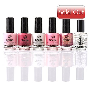 304-912 - Seche® Classic French Manicure & Fast Dry Top Coat Six-Piece Set