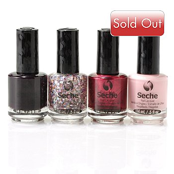 304-936 - Seche® Four-Piece Holiday Sampler w/ Limited Edition Collage Top Coat