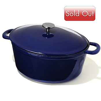400-179 - Sur La Table 8 qt Enameled Cast Iron Oval French Oven